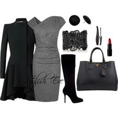 Clean crisp elegant black outfit. Winter-2013-Outfits-for-Women-by-Stylish-Eve_25