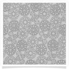 member's free steampunk cogs backing paper pack grey