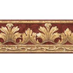 Wallpaper Borders Wood Peel Stick Wood grain Gold Wall
