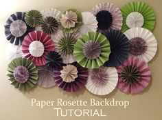 How to make a paper rosette backdrop.