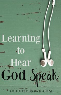 How exactly do we hear God speak? How do we teach this to our children, when we're still just learning ourselves? There is hope there and, thankfully, He is patient, while we learn to listen. Dream Life Game, Bible Study Plans, Sermon Notes, Gods Glory, Love Truths, Bible Verses, Scriptures, Love The Lord, Bible Lessons