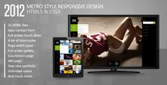 2012 - Metro Style Responsive Template . If you like this theme, please dont forget to rate it