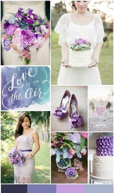 Violet Wedding Inspiration Board