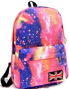 55c93473db Acefast INC Galaxy Pattern Unisex Travel Backpack Canvas Leisure Bags  School Bag (red) ACEFAST