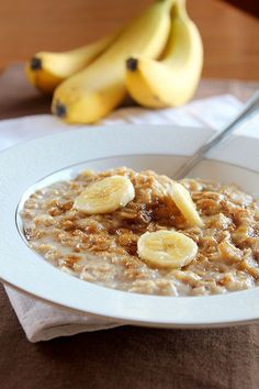 Banana Bread Oatmeal  Can't wait to try this! I love banana nut bread so I will add walnuts to this!