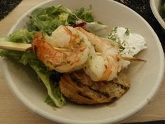 During Taste of Helsinki, goat cheese & giant shrimps from Bistro O Mat