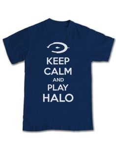 Halo 'Keep Calm And Play Halo' GAMING T-shirt: Amazon.co.uk: Clothing