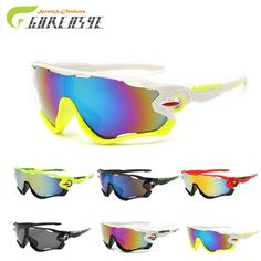973564e4c064 Gurensye Colourful Lens Sun Glasses Outdoor Sports Goggles Motorcycle  Bicycle Sunglasses