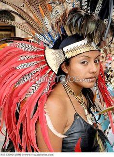 Aztec Costumes | Conchero Aztec dancer. Ciudad de México. [K89-829904] > Stock Photos ...
