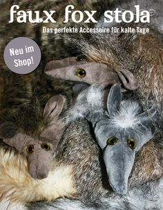 wärmende Füchslein Fake Fur, Goats, Fox, My Love, Cute, Animals, Products, Accessories, Unique Bags