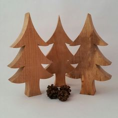 Wooden Christmas tree wooden Christmas by CottageCoppicing on Etsy