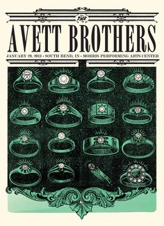 poster for the Avett Brothers.