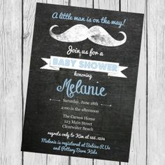Baby Shower Invitation Little Man Baby by CarouselPrintables, $12.00