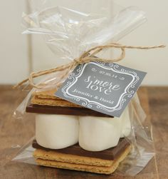 24 S'mores Wedding Favor Kits  Any Label Design by thefavorbox, $36.00