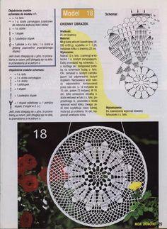 """Photo from album """"Moje robotki on Yandex. Mandala Au Crochet, Crochet Circles, Crochet Doily Patterns, Crochet Diagram, Crochet Chart, Crochet Squares, Thread Crochet, Filet Crochet, Crochet Motif"""