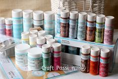 Martha Stewart Craft Paint and Tools (by Plaid) + 50 inspiring projects to do with them