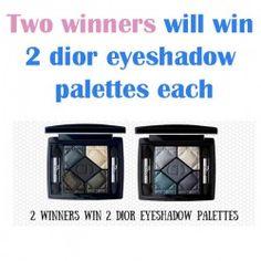Two winners will win 2 dior eyeshadow palettes each ^_^ http://www.pintalabios.info/en/fashion-giveaways/view/en/3263 #International #MakeUp #bbloggers #Giweaway