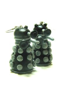 Doctor Who Inspired Black and Silver Dalek by AmanorCreations, $12.00