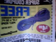 Free No purchase required Harbor Freight Poly Rope