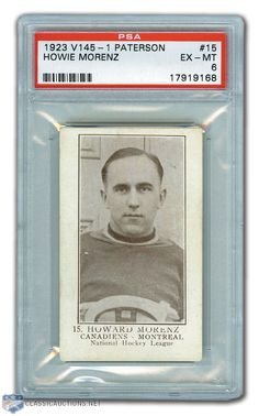 Habs Hall of Famer Howie Morenz Rookie Card / William Paterson Hockey, Winning The Lottery, Montreal Canadiens, Auction, Baseball Cards, Big, Classic, Sports, Derby