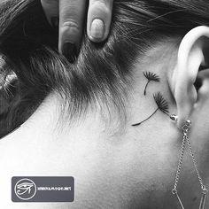 Những hình xăm bồ công anh đẹp cho nữ - Dandelion tattoo #tattoo #dandelion