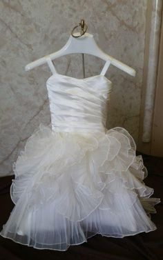 Beautiful Mermaid Ruffle Flower Mini Bride Dress Mermaidweddingdresses Flowerdresses