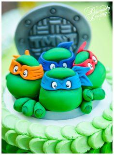 Deliciously Darling   Teenage Mutant Ninja Turtle Birthday Party   Cake