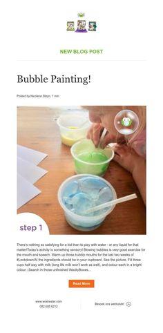 New Blog Post Bubble Painting, News Blog, Bubbles, Activities, Ideas