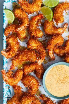 Coconut Shrimp Recipes, Fish Recipes, Seafood Recipes, Appetizer Recipes, Dinner Recipes, Seafood Appetizers, Dinner Ideas, Recipies, Kitchen Recipes