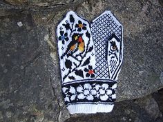 Celebrate Spring with more birds! Check my Birds bundle for other bird patterns. These mittens can be decorated with duplicate stitch embroidery (optional). You can also knit them with any two solid colors, or with solid / gradient yarn combination. I took courage and color-edited one picture out of curiosity. This pattern can also be knit light-on-dark.