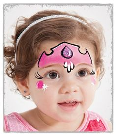 When you think about face painting designs, you probably think about simple kids face painting designs. Many people do not realize that face painting designs go beyond the basic and simple shapes that we see on small children. The Face, Face And Body, Facial Painting, Princess Face Painting, Pink Crown, Girls Crown, Face Painting Designs, Face Painting Tutorials, Festival Makeup