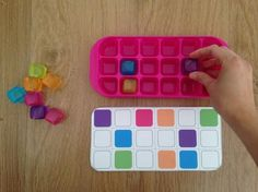 20 plantillas a realizar con una cubitera y cubitos de hielo de colores