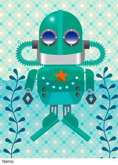 Image of Les petits robots Robots, Whimsical, Illustration, Symbols, Image, Devil, Coloring Pages, Robot, Illustrations
