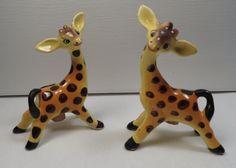 vintage giraffes...salt and pepper shakers!