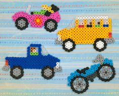 Whether you're headed to school, the construction site, the beach, or the open road, you can create your fun vehicle with Perler Beads. So get on board and let's go!