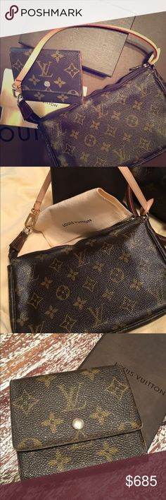 Louis Vuitton Monogram Canvas BUNDLE Save $$ with this BUNDLE! Authentic Louis Vuitton Card Case & Pochette Bag with BRAND NEW Strap.  All items were purchased at the LV store in the Houston Galleria. 🔸The Card Case measures approx. 3.5' L x 6.5' H x .25' W 🔸Pochette Bag measures approx. 9.1' L x 5.1' H x 1.6' W 🔸 Zipper on Pochette has warped a little bit 💠All items are listed in their own separate listing; with MORE DETAIL💠 Louis Vuitton Bags