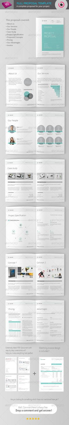 Full Project Proposal Template - Proposals Invoices Stationery
