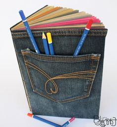 This is perfect for covering a journal so as to have a place for the pens until the journal is complete.