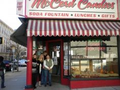 McCord Candies in downtown Lafayette, IN. I worked there from 1974-1984. Great candy & old fashioned soda fountain. Best known for their homemade candy canes from Thanksgiving to Christmas. Couldn't tell you how many canes I helped make, but I know it was a whole bunch..lol.