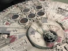 My Bandai Perfect Grade Millennium Falcon -finished! Star Wars Boba Fett, Star Wars Clone Wars, Star Wars Art, Lego Star Wars, Star Trek, Millennium Falcon Model, Perfect Grade, Star Wars The Old, Prop Maker