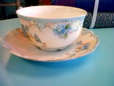 Vintage Limoges cup and saucer