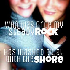 Who was once my steady rock has washed away with the shore. #Broken #friendship