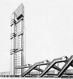 D. Kantorovich, Train-station at Saratov, 3-11-1929.