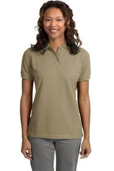 Port Authority Ladies Pique Sport Shirt (L420) Available in 24 Colors X-Large Khaki Heather Port Authority. $21.33