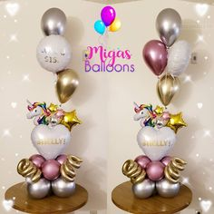 Discover recipes, home ideas, style inspiration and other ideas to try. Balloon Arrangements, Balloon Centerpieces, Balloon Decorations Party, Birthday Decorations, Unicorn Balloon, Unicorn Party, Balloon Flowers, Balloon Bouquet, Baby Shower Balloons