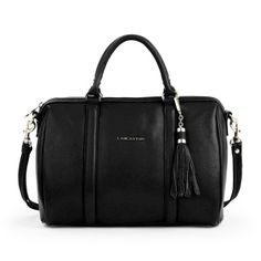 Large duffel bag Mademoiselle Ana black For other models, you can visit the category. Mac Douglas, Duffel Bag, Mademoiselle, Handbags, My Style, A4, Trends, Shopping, Black
