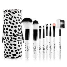 8pcs Mini Makeup Brushes Cosmetic Blush Contour Eyebrow Eyeshadow Foundation Powder Brush Set With Portable Box