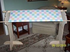 hmmm - Another view of my dream quilt frame.