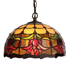 Tiffany Style  Hanging Lamp/Tulips Design /Amora Lighting #Amora