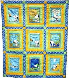 "Storybook Quilt (FREE pattern) ~ so cute! Using an illustrated fabric panel or from a ""quiet"" or fabric book. While a ""quiet book"" is usually only appealing to a baby or toddler, a storybook quilt continues to be enjoyed and used by a child for many years, and is especially enjoyed by a child that is learning to read. It's a quick and easy project suitable for all skill levels. FUN!"